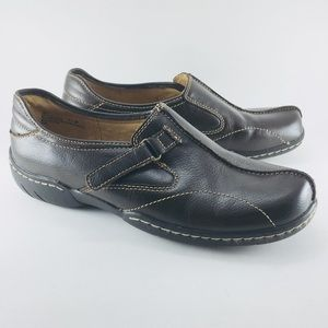 Dr Scholl's Emily Brown Leather Slip-on Flat